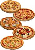 pizza-campione 冷凍 ピザ 5枚Bセット 【 ミックスビザ / モッツアレラトマト / アスパラベーコン / ホワイトコンボ / ホワイトベーコン 】 手作り 国産小麦 使用 直径約 直径約22cm
