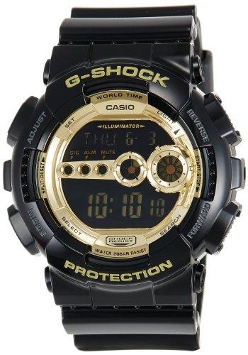 CASIO カシオ G-SHOCK 腕時計 Black×Gold Series ブラック×ゴールドシリーズ GD-100GB-1DR 海外モデル