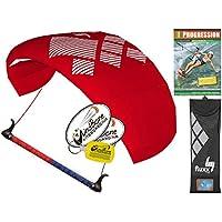 hq4 Fluxx 1.3 MトレーナーKite TR Plus Kitesurfing DVDバンドル( 4 Items ) Includes Progression初心者Kiteboarding Instructional Dvd + WindBone Kiteライフスタイルデカール+ WindBoneキーチェーン: Foil Traction