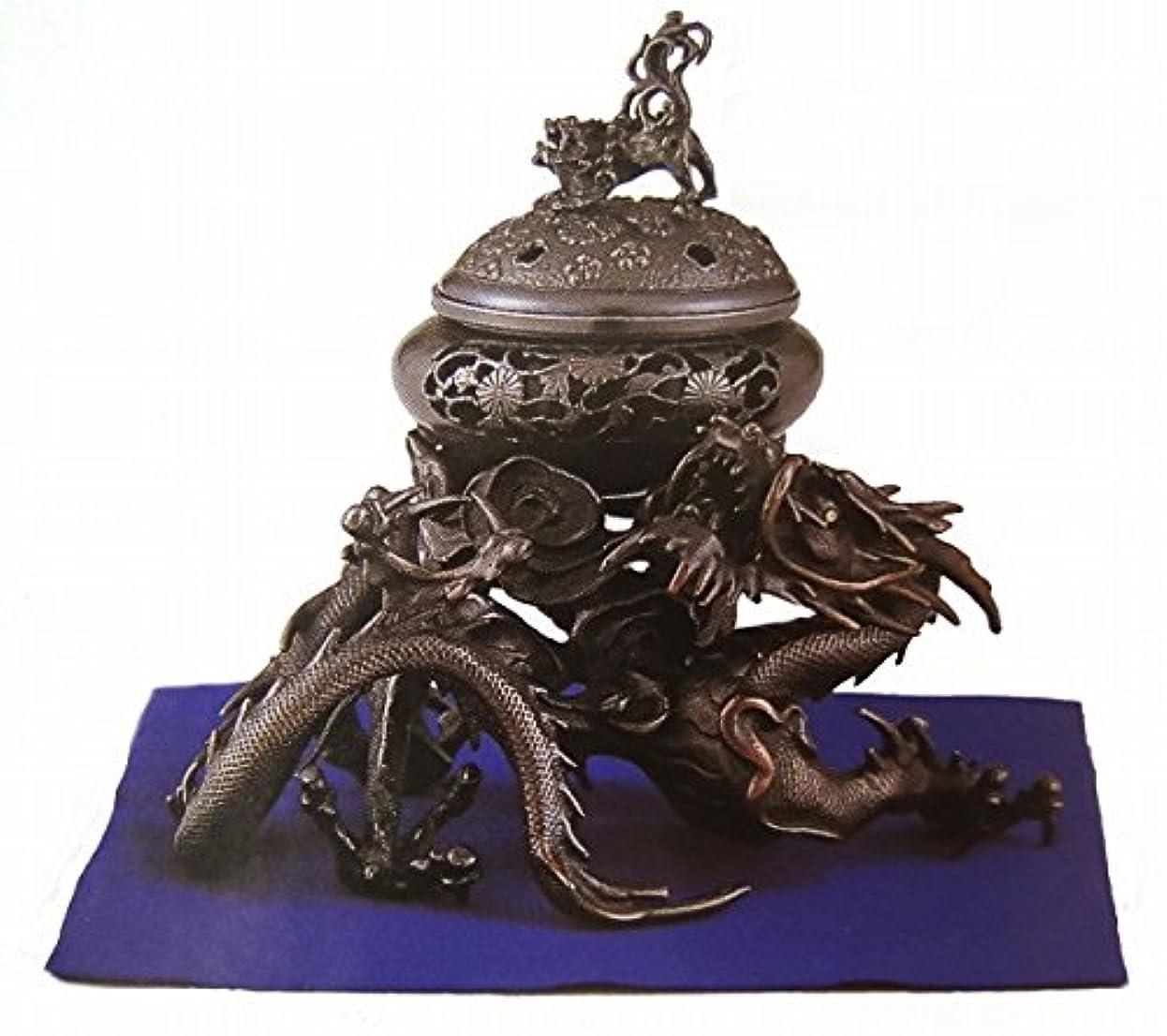 シンプルな存在証書『吉祥龍香炉』銅製