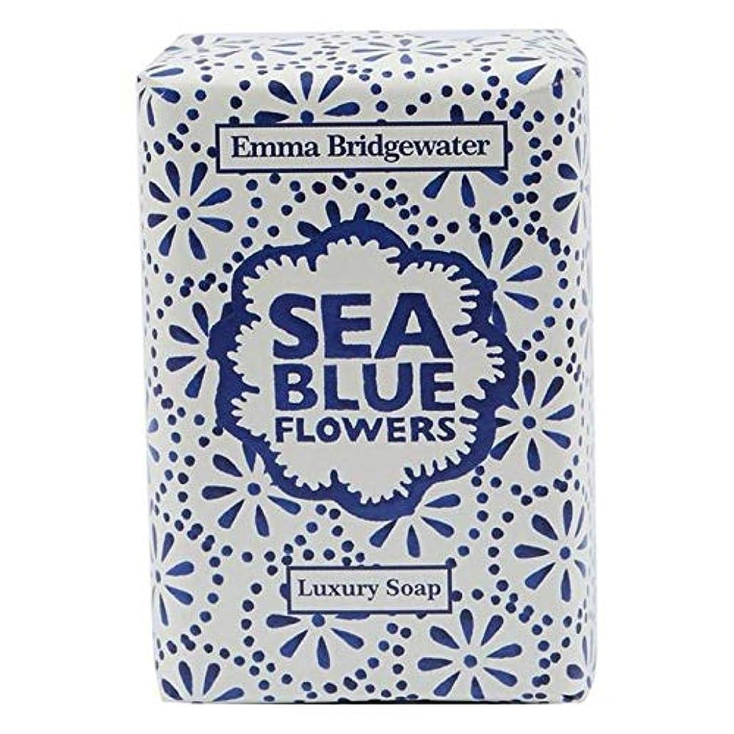 上昇幸運なことに賛美歌[Emma Bridgewater ] エマブリッジウォーターシーブルーソープ150グラム - Emma Bridgewater Sea Blue Soap 150g [並行輸入品]