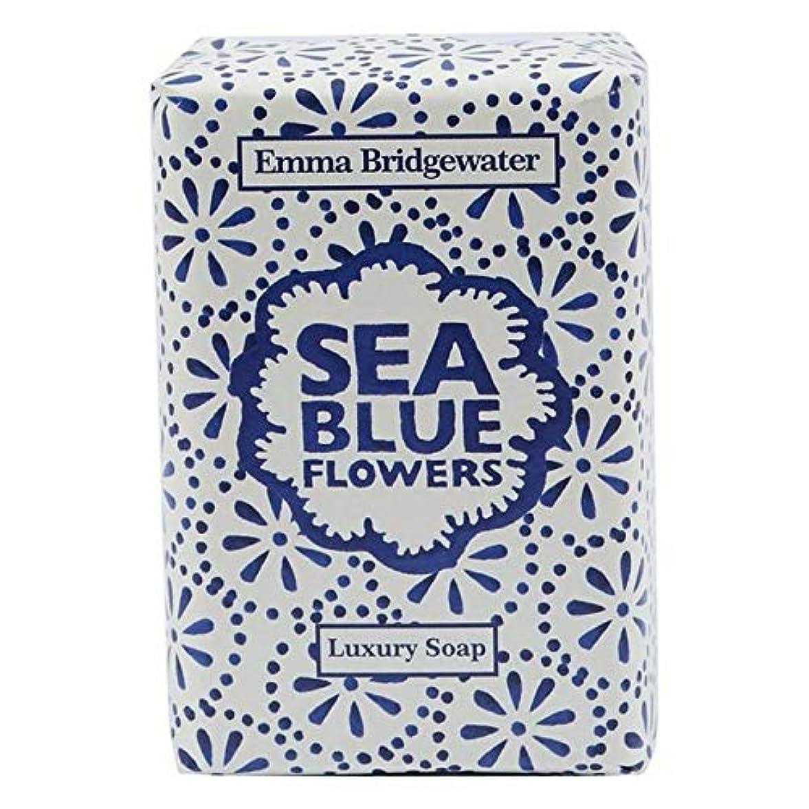 火山学者おばさん取り除く[Emma Bridgewater ] エマブリッジウォーターシーブルーソープ150グラム - Emma Bridgewater Sea Blue Soap 150g [並行輸入品]