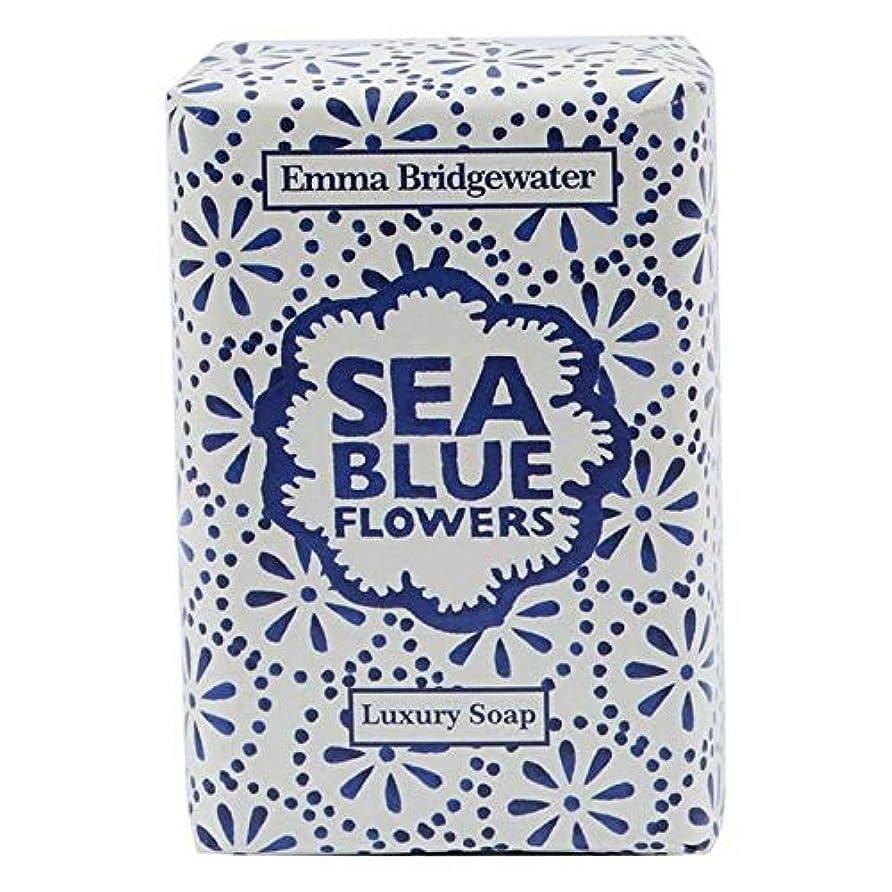 魅了する後継溶岩[Emma Bridgewater ] エマブリッジウォーターシーブルーソープ150グラム - Emma Bridgewater Sea Blue Soap 150g [並行輸入品]