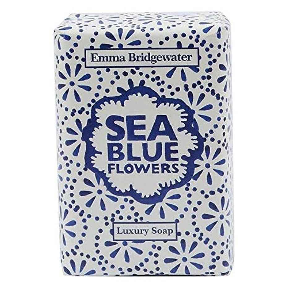 磁気優遇凍った[Emma Bridgewater ] エマブリッジウォーターシーブルーソープ150グラム - Emma Bridgewater Sea Blue Soap 150g [並行輸入品]