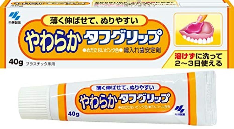 援助する配るチャーターやわらかタフグリップ 総入れ歯安定剤 歯ぐきになじむピンク色 40g