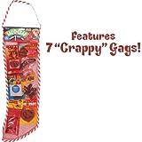 Loftus International Joker Sac-O-Crap Full of Crappy Gags Christmas Stocking 7pc 60cm Gift Set Red Novelty Item
