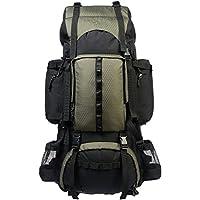 Amazonベーシック インターナルフレームハイキングバックパック レインフライ付属 75L グリーン