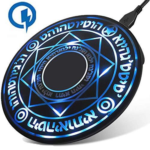 魔法陣 Qi ワイヤレス充電器 10W 急速 軽量 2.4A 超薄型 急速充電器 ワイヤレスチャージャー 置くだけ充電 充電パッド iPhone/SamSung/Sony/HuaWei/Nokia/HTC/LGなどQi対応機種