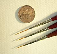 Micron Mini Art Brush- X-Long Round Detailer Size 10/0 (one brush) by Dynasty [並行輸入品]