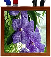 Rikki Knight Lavender Orchids Design 5-Inch Wooden Tile Pen Holder (RK-PH3743) [並行輸入品]