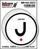 IDP-09S 国際識別記号ステッカー/日本(JAPAN) スーツケースステッカー 機材ケースにも!