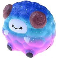 yiphates Squeezeおもちゃ、カラフルな羊香りつきSquishyチャームSlow RisingシミュレーションKid Toy Gift Home Decor