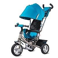 子供の自転車、子供の三輪車の自転車の赤ちゃんのトロリーチタンの空ホイール赤ちゃんのキャリッジ二重ブレーキ ( 色 : 青 )