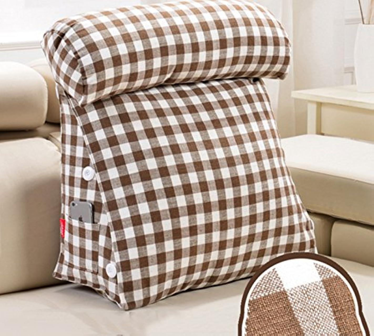 ヒョウ作り遺伝的日本の綿とリネントライアングルヘッドビッグバック看護首のクッションオフィスソファ枕クッション(サイズ:60 * 20 * 50CM) ( 色 : # 2 )