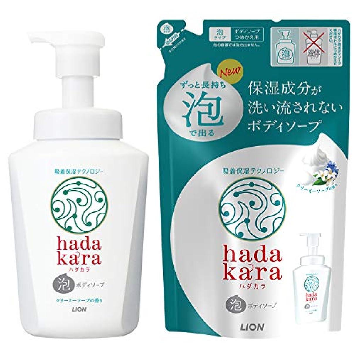 コンドームマトロンレパートリーhadakara(ハダカラ) ボディソープ 泡タイプ クリーミーソープの香り 本体550ml+詰替440ml 1