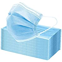 50Pcs Face Mask, 3 Layers Breathable Earlooped Disposable Mask - Blue (Send from Australia)