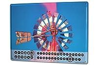 カレンダー Perpetual Calendar Nostalgic G. Huber Wind mill Tin Metal Magnetic