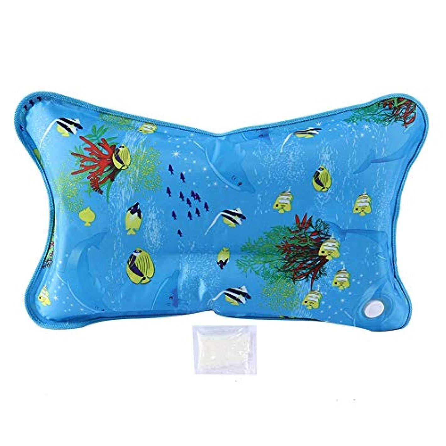 基準ワーム第四クールマット枕 クールマット ジェルマット ひんやり枕 ひんやりジェルマット ひんやり冷却マット(55*35CM-小魚)