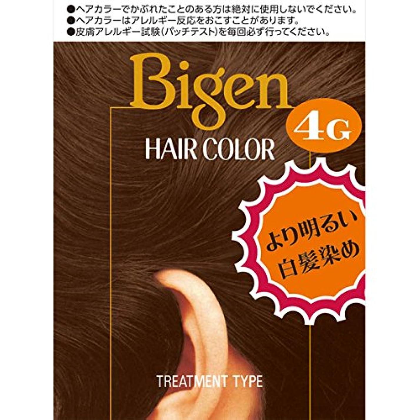 テンポ球体研磨ホーユー ビゲン ヘアカラー 4G 自然な栗色 40ml×2 (医薬部外品)