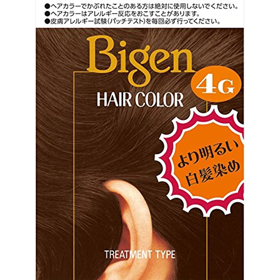 天国好き異なるホーユー ビゲン ヘアカラー 4G 自然な栗色 40ml×2 (医薬部外品)