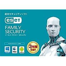ESET ファミリー セキュリティ (最新版) | 5台3年版 | カード版 | Win/Mac/Android対応