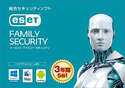 ESET ファミリー セキュリティ (最新版) | 5台3年版 | カード版...