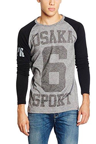 【極度乾燥しなさい】 Superdry メンズ ロングTシャツ 人気UKブランド Sサイズ Osaka Sport L/s Tee Top 日本未入荷 並行輸入品 [並行輸入品]