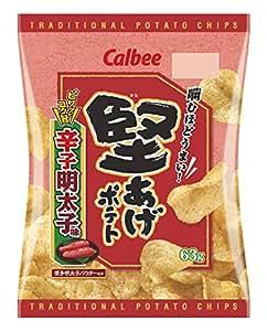 カルビー 堅あげポテト辛子明太子味 63g×12袋