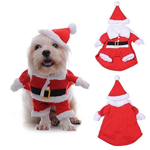 TAONMEISU ペット洋服 クリスマスをお祝い 変身服 サンタ コスプレ