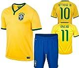 大人用 サッカー ユニフォーム ブラジル 10番 ネイマール HOME M