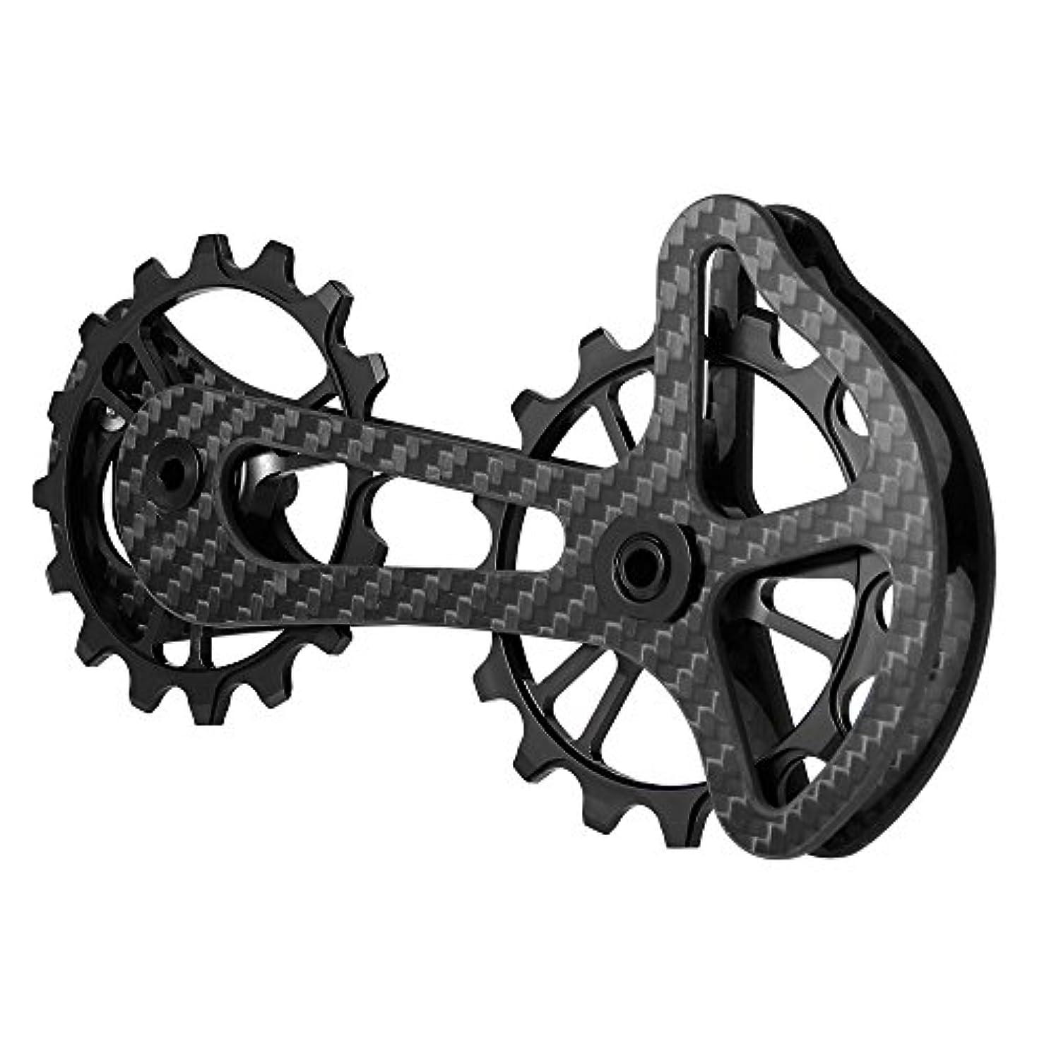 不格好焦がす省略LIXADA 16T ディレイラープーリー 自転車用 リアディレイラー ビッグプーリー カーボン 自転車プーリー 自転車パーツ5800/5700/4600/4700/105