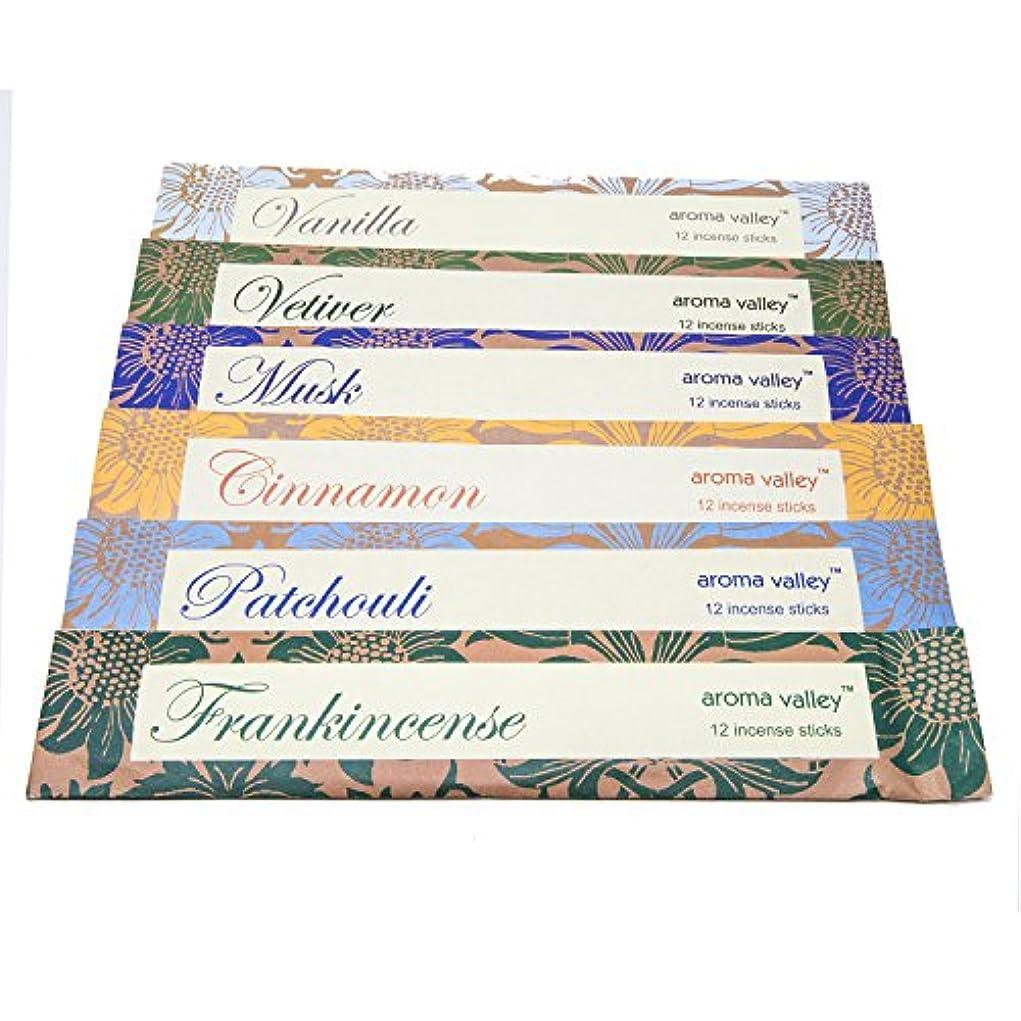 量テーブルたくさんEco Friendly OrganicハンドメイドAroma Incense WandsシナモンFrankincenseムスクパチュリバニラVetiver 12 Incense Sticks in Eachパック