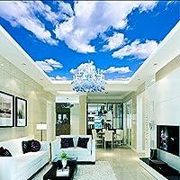Wxmca クリスタルの壁天井壁画の壁紙天井の空雲太陽の木ハト壁写真壁画壁紙壁紙天井の壁画 - D-400X280Cm
