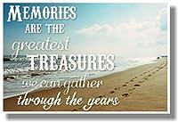 思い出are the greatest treasures。。。(ビーチ)–新しい教室Motivational Poster