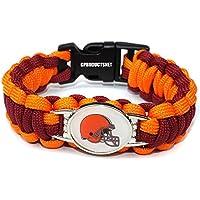 NFL Cleveland Brownsのパラコードブレスレットレディース&メンズ – パラコードサバイバルストラップブレスレット