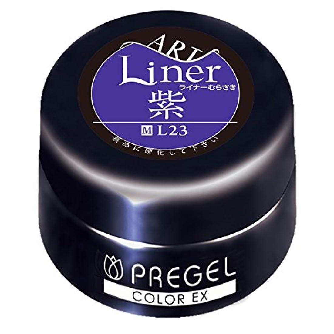 混乱不完全な悪行PRE GEL カラーEX ライナー紫23 4g UV/LED対応