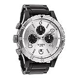 ニクソン NIXON 48-20 クロノ クオーツ メンズ 腕時計 A486-180 ブラック/シルバー [並行輸入品]