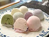 (お菓子工房ロリアン)ひんやりソフト アイス大福 (バニラ3個、とちおとめ3個、抹茶2個、ブルーベリー2個)食べ比べ 10個入り