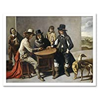 Mathieu Lenain Le Cadet The Dice Shooters Painting Art Print Framed Poster Wall Decor 12x16 inch ペインティングポスター壁デコ