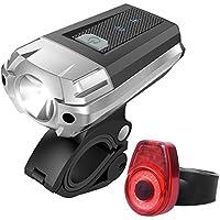 安全ライト 自転車 LED テールライト,USB充電式,自転車テールライトと自転車ヘッドライト 小型 軽量 防水 ミニバイクライト,4モード 高輝度LED USB充電式セーフティライト夜間走行安全 充電用マイクロUSBケーブル付属,赤と白