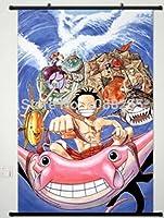 Cartoon世界アニメOne Pieceホーム装飾ポスター壁スクロールJapanese新しい