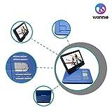 ポータブルDVDプレーヤー 10.1型 高画質液晶 DVDプレイヤー リージョンフリー 大容量 5時間持続 超軽量で持ち運びやすい 動作音も静か (ブルー)