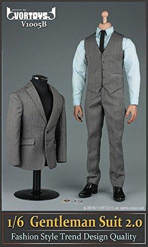 1/6 ジェントルマン スーツ グレー ver.2.0 セット(V1005B)