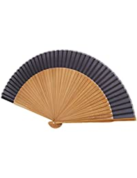 UN JOUR 扇子 短地 無地 男物 紳士 江戸 モダン 和風 シンプル メンズ 絹 シルク 高級感 (無地)