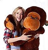さるぬいぐるみ 特大おもちゃ ふわふわ柔らかい 巨大猿抱き枕  (130cm)