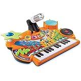 Weihuiwangluo 最高の選択多機能音楽テーブルキーボード音楽幼児教育パズル学習テーブル(マイク付) (Color : 黄)