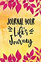 Journal Your Life's Journey: Grunge Paint and Splashes, Lined Journal, 6 X 9, 100 Pages