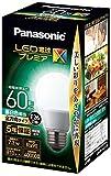 パナソニック LED電球 口金直径26mm プレミアX 電球60形相当 昼白色相当(7.3W) 一般電球 全方向タイプ 密閉器具対応 LDA7NDGSZ6