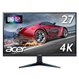 Acerゲーミングモニター VG270Kbmiipx 27インチ/IPS/非光沢/3840x2160/4K/60Hz/300cd/4ms/Free-Sync/HDMI/DisplayPort