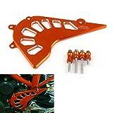 Bruce & Shark(ブルース・サメ)バイク・オートバイ用 フロント チェーン カバー ガード KTM DUKEデューク 390 用 オレンジ
